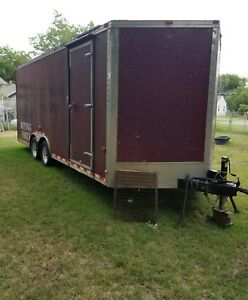 2008 Cargo Craft 8 5 X 20 V Nose Cargo Trailer