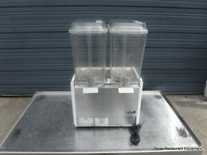 Crathco D25 4 Refrigerated Cold Beverage 5 Gallon Tank Double Dispenser