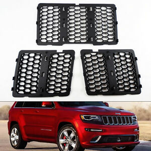 Honeycomb Mesh Matte Black Grill Inserts Fits Jeep Grand Cherokee 2014 2016