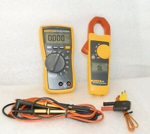 Digital Multimeter Clamp 116 323 Leads Temp Probe Adapter No Carry Case