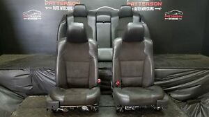 2010 Ford Taurus Sho Power Front Rear Cloth Leather Seat Black Qw