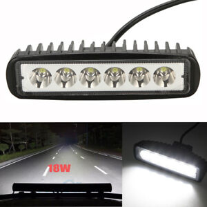 6inch 18w Led Work Light Bar Spot Beam Offroad Driving Fog 4wd Lamp Ute Suv