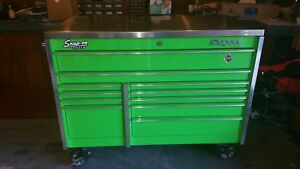 Extreme Green Snap On Tool Box And Tools