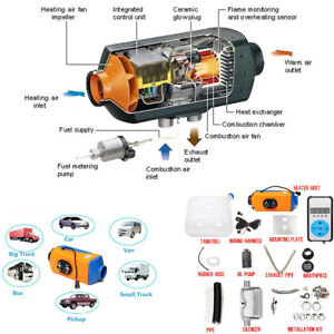 3kw 5kw Adjustable Air Diesel gasoline Heater Digital Switch Set For Car Truck