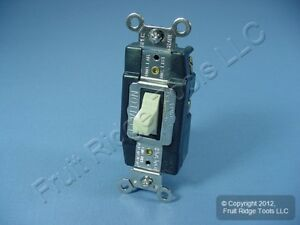 Leviton Ivory 20a Spdt Momentary Contact Toggle Switch Ctr Off 20a Bulk 1257 i