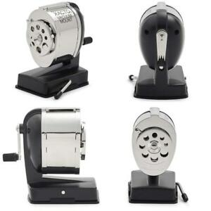 Pencil Sharpener Dual Hardened Cutters Vacuum Mount For Portability