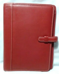 Coach Leather Notepad Cover Organizer Maroon Red Glove Tanned Leathert 8 X 6