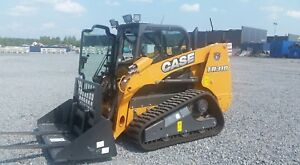 Case Tr 310 Skid Steer Loader Rubber Track Enclosed Cab Aux Hi Flow