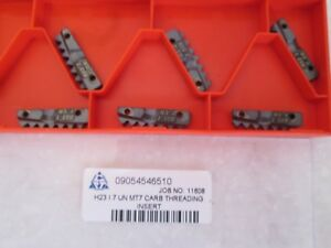 Lot Of 6 Carmex Carbide Threading Inserts H23 I 7 Un Mt7 New