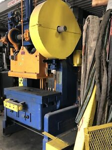 Rousselle Obi 60 Ton Punch Stamping Press Model 6b48 Inclinable Air Clutch