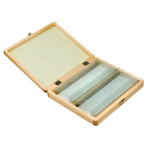 Barska 100 Pc Of Prepared Science Microscope Glass Slides In Wooden Case Af11944