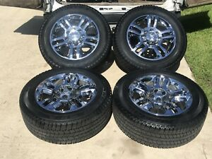 20 Chevy Silverado High Country Hd 2500 Hd Oem Chrome Wheels Tires 11 19 Rims