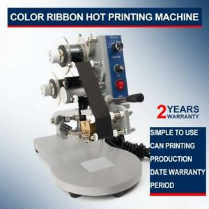 Color Ribbon Hot Date Printing Machine Semi automatic Type Stamp Coding Machine