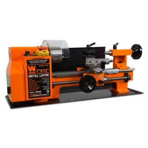 Wen Variable Speed 7 Inch X 12 Inch 2 Direction Benchtop Metal Lathe Technicians