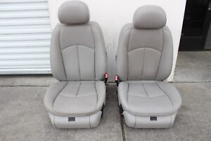 W211 Mercedes Front Passenger Driver Right Left Grey Power Seats Gray Pair Set