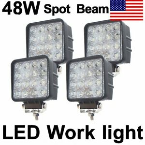 4x 12v 24v 48w Led Work Light Spot Pencil Lamp Offroad Car Truck 4wd Ute Us Ship