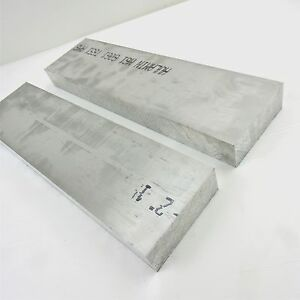 2 Thick 6061 Aluminum Plate 5 5 X 20 Long Qty 2 Flat Stock Sku137241