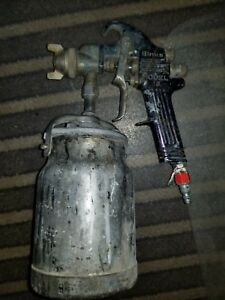 Binks Model 18 Auto Body Paint Spray Gun Painting With Pot Tip 66se