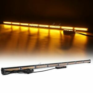 45 Inch Cob Led Amber Traffic Advisor Beacon Emergency Warning Security Lightbar
