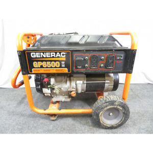Generac Gp6500 6 500 watt Gasoline Powered Portable Generator local Pick Up Only