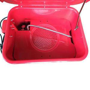 New 3 1 2 Gallon Portable Parts Washer Solvent Pump Auto Cleaning 17 X 13 x 9