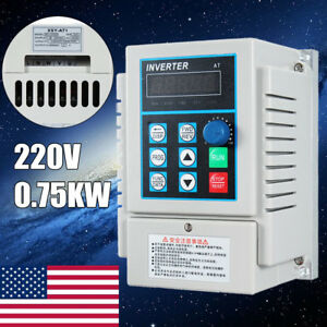 0 75kw Single To3 phase Motor Governor Variable Frequency Drive Inverter Cnc220v