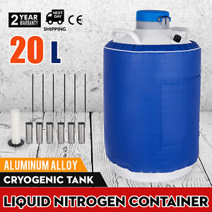 20l Liquid Nitrogen Container Ln2 Dewar Tank Refrigeration Portable Cryogenic