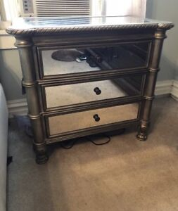 Pair Of Hooker Melange 3 Drawer Nightstands