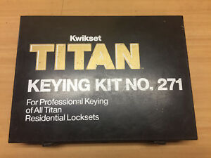Kwikset Titan Keying Kit No 271 For Professional Titan Residential Locksets