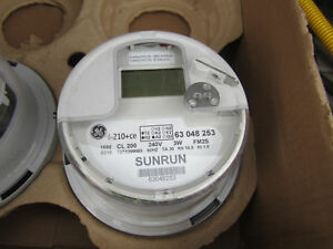 2pc Ge Sunrun I 210 ce Digital Watt Hr Electric Smart Meter Cl 200 240v 3w Fm2s