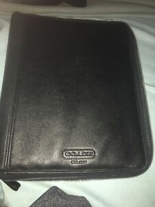 Coach Portfolio Notebook Leather Business Organizer Full Size Folder