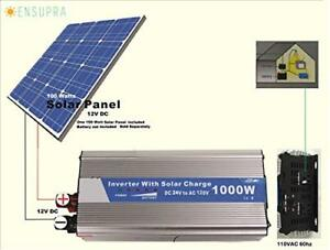 Ensupra 1000 Watt Solar Power 120v Ac powered By 100 watt Solar Panel Simply A