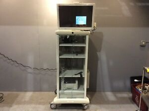 Stryker Endoscopy Cart W stryker Wise 26 Hdtv Surgical Display Monitor Medical