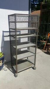 Industrial Metal Cage Cart With Casters