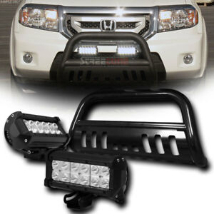 Blk Bull Bar Bumper Grille Guard 36w Cree Led Fog Lamps For 05 15 Toyota Tacoma