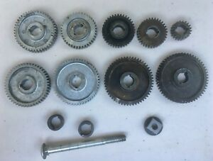 9 Piece Change Gear Set 2 Spacers For Atlas 618 Or Craftsman 101 6 Lathe