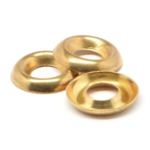 6 Cup Washer Countersunk Finishing Washer Brass