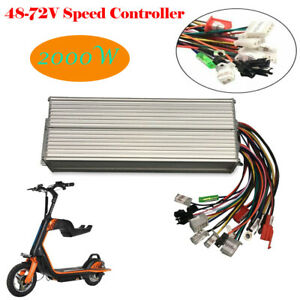 2000w Electric Bicycle E bike Scooter Brushless Dc Motor Speed Controller 48 72v