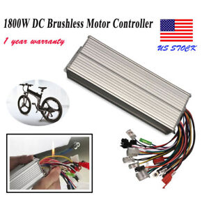 1800w Electric Bicycle E bike Scooter Brushless Dc Motor Speed Controller 48 72v
