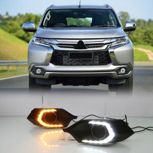 Fog Light Drl Led Day Light Kit For Mitsubishi Pajero Shogun Montero Sport 16 18