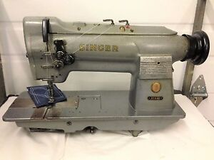 Singer 212g140 2 needle Leather 1 4 Spacing Industrial Sewing Machine