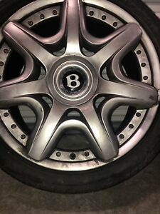4 Genuine Oem Factory Bentley Continental Gt 20 In Wheels With Tires