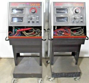 Lot Of 2 Sun Vat 60 Battery And Alternator Tester With Carts Power Tested Only
