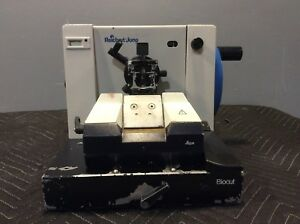 Reichert jung Leica 2030 Biocut Manual Retracting Microtome 2 Lab Equipment