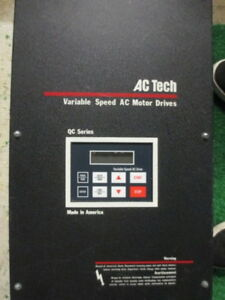 Ac Tech Q22008pc Variable Speed Motor Drive 7 5hp 5 5kw 200 240vac 3phase