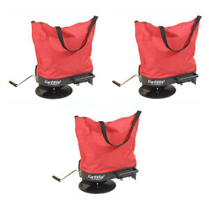 Earthway Hand Crank Garden Seeder Adaptable Seed Fertilizer Spreader 3 Pack