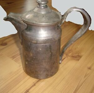 Reed Barton Silver Soldered Pot 6 Tall W Hinged Lid