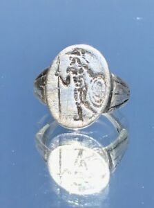 God Of War Mars Roman Ancient Silver Ring Us Size 10 5 2 3 Cent Ad