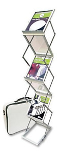 Deflect o Portable Literature Display With Case Magazine Size 791061