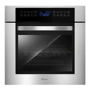 Empava 24 Electric Digital Touch Control Convection Wall Oven W Rotisserie